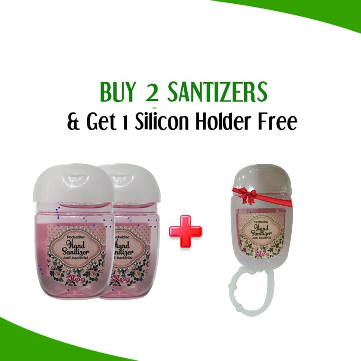Buy 2 Hand Sanitizer Mini Cute Bottle Get 1 Slicon Holder Free By Karry &  Kare