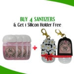 Buy 4 Hand Sanitizer Mini Cute Bottle Get 1 Slicon Holder Free In Black By Karry & Kare