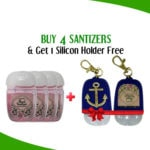 Buy 4 Hand Sanitizer Mini Cute Bottle Get 1 Slicon Holder Free In Blue By Karry & Kare